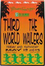 THE WAILERS & THIRD WORLD mint Reggaefest 1989 original Fillmore poster #F79