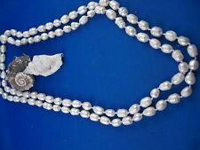Süsswasser Perlenkette lang dicke ovale Perlen schönes Lüster