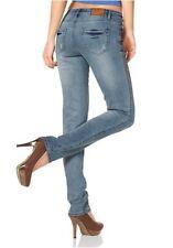 Arizona New Boyfriend Jeans Gr.34-40 Damen Denim Hose Stretch Blau Used L32