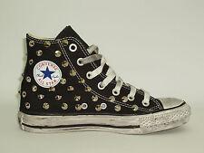 Converse all star Hi borchie scarpe donna uomo nero - grigio- blu  artigianali