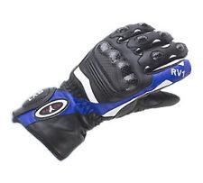 Rayven RV1 Leather Hipora Waterproof Gloves Motorbike Motorcycle Gloves Blue