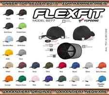 FLEXFIT ORIGINAL  WOOLY COMBED BASECAP CAP BASEBALL graue Unterseite MÜTZE