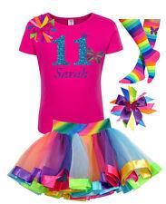 Bubblegum Divas 11th Birthday Monarch Butterfly Shirt Rainbow Tutu Outfit Custom