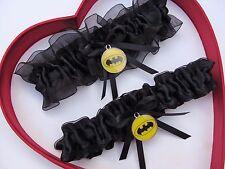New Handmade Batman Wedding Garter Yellow Black Prom Superhero Garter