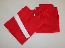 Karate/Taekwondo Red Gi Cotton/Poly 8-Oz Preshrunk Adult/Kids with White Belt