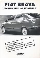 FIAT BRAVA tecnica attrezzature auto PROSPEKT 9/97 prospetto brochure 1997 auto PKW