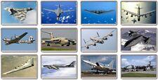 FRIDGE MAGNET - ICONIC BOMBERS (Various Designs) - Large Jumbo Plane Airplane