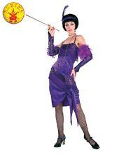 RD Ladies Costume Fancy Dress - Roaring 20s Purple FABULOUS FLAPPER 16522