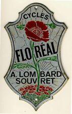 FLOREAL FAHRRAD Blech Markenschild um 1920 * Cycle Bike