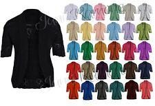 NUOVA linea donna Ladies Long Sleeve cravatta anteriore Bolero Ritagliata Spallucce Top Cardigan 8-22