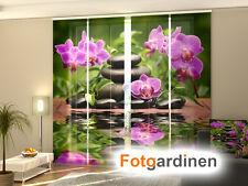 Fotogardine Orchidee, Flächenvorhang Schiebegardine, bedruckt mit Motiv, auf Maß
