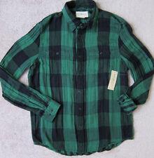 RALPH LAUREN  ( Green) PREMIUM Plaid Cotton Sport Shirt Men's - NWT  $89.50