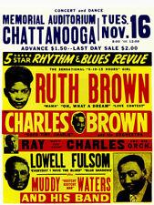 188107 Ruth Brown Ray Charles Muddy Waters Chattanooga Wall Print Poster UK