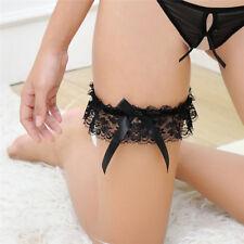 Butterfly Lace Ribbon Bowknot Wedding Bridal Hen Gift Garters Adjust Legrings
