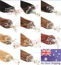 "18"" 20"" 22"" Remy Human Hair Extensions Micro Ring Bead Loop Tip Hair AU 100S AU"
