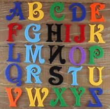 Victoria Police alphabet set 3mm feutre majuscules a-z 26 caractères 5-12cm