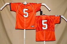 ILLINOIS ILLINI   Nike  #5   FOOTBALL JERSEY   Youth Large    NWT    orange