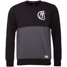 adidas Mens RMCF Real Madrid Graphic Crew Neck Sweater Black/Dark Grey Heather