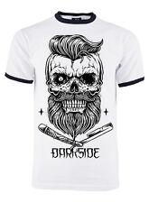 Darkside - CUT THROAT ZOMBIE - Mens Black Ringer T-Shirt - White