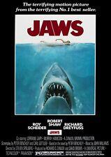Jaws 1975 Vintage, Retro Movie Poster A0-A1-A2-A3-A4-A5-A6-MAXI 503