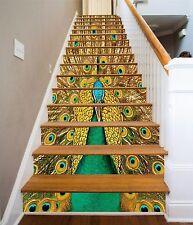 3D Peacock 506 Stair Risers Decoration Photo Mural Vinyl Decal Wallpaper AU