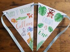Cute JUNGLE Safari Cotton ZOO Bunting Handmade Powell Craft 4m Flags Banner
