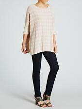 Marella Currier Dogtooth Wool & Cashmere Blend Jumper Pink Cream S 10-12 M 14-16