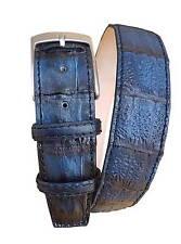 Cintura 4 cm in Coda di Coccodrillo tinta a mano - Unisex
