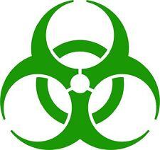 Biohazard High Quality Vinyl Decal Bumper Sticker Zombie Bio Hazard Radioactive