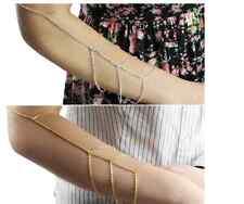 Armkette Kette Armkettchen Statement gold silber Arm Körperkette Style Damen neu