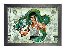 Bruce Lee Painting 1 Failiure Classic Art Motivation Determination Poster Photo
