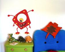 Fieses Monster Wandtattoo Wandaufkleber Kinderzimmer  4 Größen
