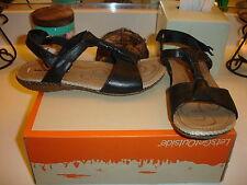 Merrell Whisper Link black leather sandal  walking shoe Comfortable 6 $120