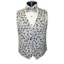 Las Vegas Black and White Dice Tuxedo Vest and Bowtie