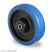 BLUE WHEEL Vollgummi Rad  80 100 125 160 200 mm Ersatzrad Rolle INKL. MONTAGESET
