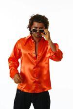 Partyhemd orange Herrenhemd Schlagerhemd Mottoparty Hemd 70er 80er Jahre Party