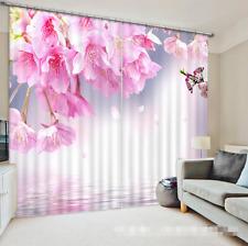 3D Peach Petal 9Blockout Photo Curtain Printing Curtains Drapes Fabric Window CA