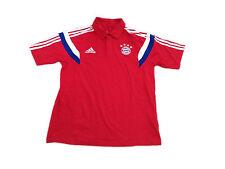 Da Uomo Adidas FC Bayern Monaco Calcio Polo UK M Cotone Tee Top f49527 @