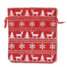 Christmas Festive Reindeer Snowflake Sparkle Gift Bag Presents Xmas Accessories