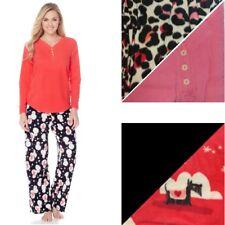 HUE 2 Piece Microfleece Pajama Set 445092-J -NI- (Medium) $35.90