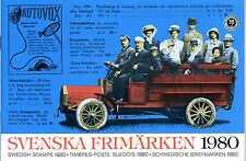 Svenska Frimärken 1980 Schweden Briefmarken ** Kompl. Jahrgang 1980 KI22108