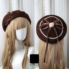 Lolita hat Kawaii Hair Accessories Moe Sweet Japan Kawaii Bowknot Cute Beret DIY