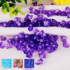 100pcs Clear Acrylic Crystal Ice Rock Stones Aquarium Vase Gems Table Decorating