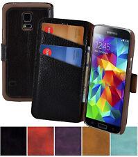 Samsung Galaxy S5 Mini Hülle Tasche Book Echt Leder Schutz Cover 1A Wallet Case