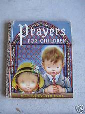 1952 Little Golden Book Prayers for Children #205 LOOK