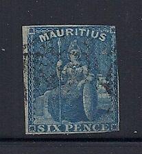 MAURITIUS 1859 6d Scott 18 USED copy