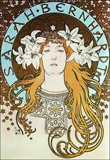 Art Deco-Alphonse Mucha-Sarah Bernhardt-A3 arte cartel impresión