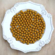 1cm MUSTARD Felt Wool Balls - CHOOSE QUANTITY - handmade beads pom pom diy craft