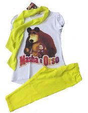 Completino Estivo Bimba Masha e Orso , T-shirt Leggings *21099
