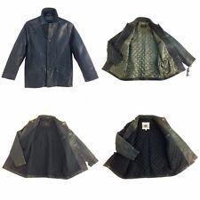Men's, Vintage, 4 Buttons Genuine Leather Jacket / Coat 3/4 Length, Brown